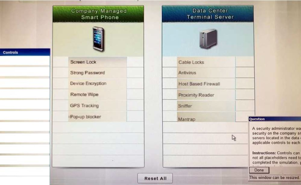 Managed Smart Phones - Data Center Terminal Server - Answer