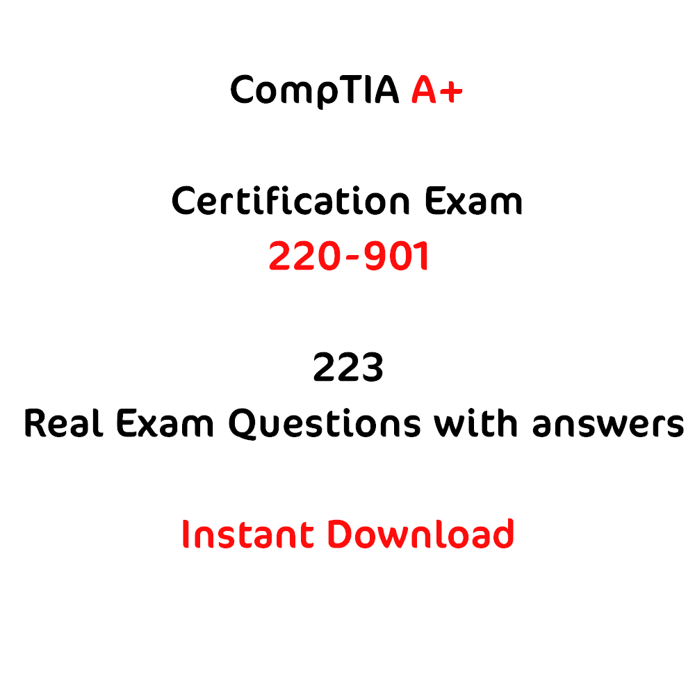 Comptia a certification exam 220 901 223 questions comptia comptia a certification exam 220 901 223 questions xflitez Choice Image
